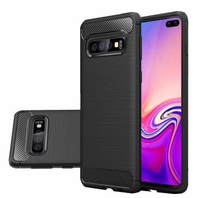 Θήκη Samsung Galaxy S10 Plus  Carbon Fiber Brushed Case - Black