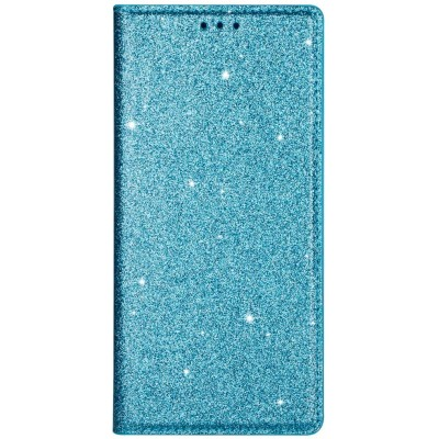 Θήκη Huawei P40 Bling Glitter PU Leather Flip Wallet -Blue