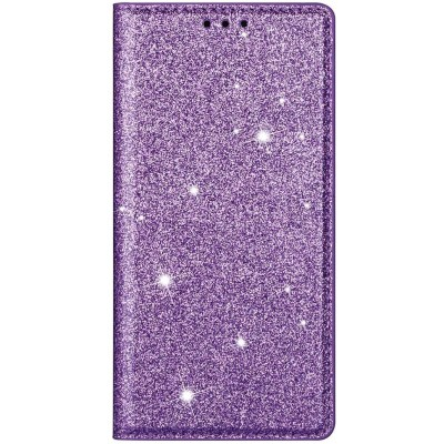 Θήκη Huawei P40 Bling Glitter PU Leather Flip Wallet -Purple