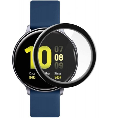 Samsung Galaxy Watch Active2 44mm  HD Clear Full Face Curved Black Soft Screen Protector