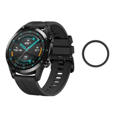 Matte Full Face Curved Black Soft Screen Protector Huawei Watch GT 2  46mm