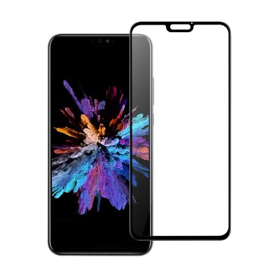 Huawei Honor 8X Αντιχαρακτικό Γυαλί 9H Tempered Glass 3D Full Face Curved Black
