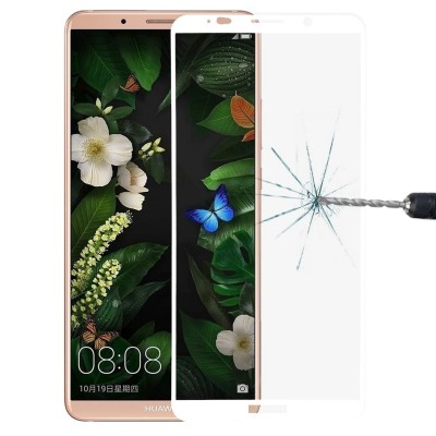 Huawei Mate 10 Pro Αντιχαρακτικό Γυαλί 9H Tempered Glass 3D Full Face Curved White