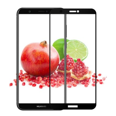 Huawei P Smart Αντιχαρακτικό Γυαλί 9H Tempered Glass 5D Full Face Curved Black