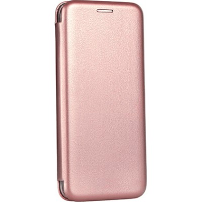 Θήκη Samsung Galaxy J8 2018  Soft TPU&PU Leather Flip  Βιβλίο Smart Magnet Elegance -Χρυσό Ροζ