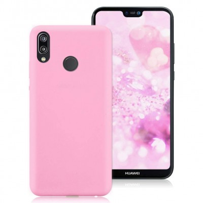 Θήκη Huawei P20 Lite  Σιλικόνης Slim Fit -Pink Matte