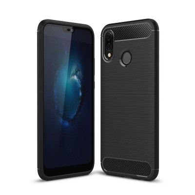 Θήκη Huawei  P20 Lite TPU Carbon Rugged Armor Case -Black