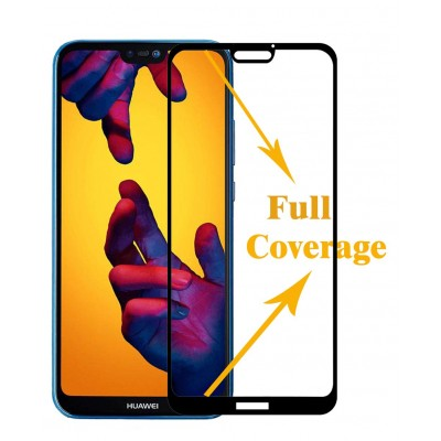 Huawei P20 Lite  Αντιχαρακτικό Γυαλί 9H Tempered Glass 3D Full Face Curved Black