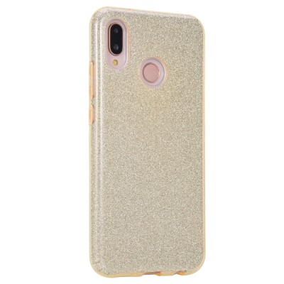 Θήκη Huawei P20 Lite Forcell Glitter Shine Cover Hard Case -Gold
