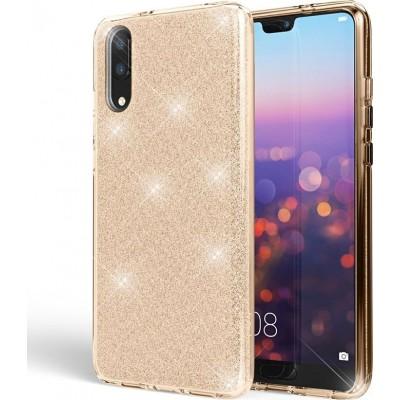 Θήκη Huawei P20 Forcell Glitter Shine Cover Hard Case -Gold