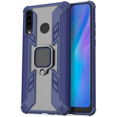 Θήκη Huawei P30 Lite Rugged Armor with Metal Rotating Ring Stand -Μπλε