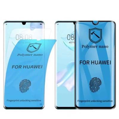 Huawei P30 Pro 3D Nano Flexi Full Glue Full Face Curved Αντιχαρακτικό 9H Film Protector -Black