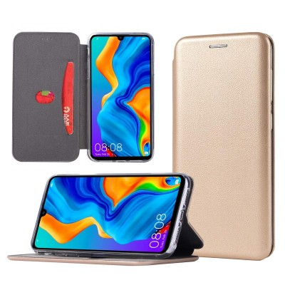 Θήκη Xiaomi Mi Note 10 Lite Soft TPU&PU Leather Flip  Βιβλίο Smart Magnet Elegance -Χρυσό