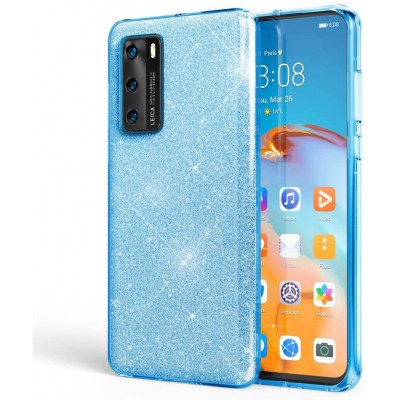 Θήκη Huawei P40  Glitter Shine Cover Hard -Γαλάζιο