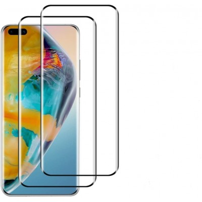 Huawei P40 Αντιχαρακτικό Γυαλί 9H Tempered Glass 3D Full Face Curved Black