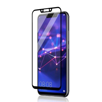 Huawei Mate 20 Lite Αντιχαρακτικό Γυαλί 9H Tempered Glass 3D Full Face Black