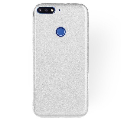 Θήκη Huawei Y7 Prime 2018 Forcell Glitter Shine Cover Hard Case -Silver