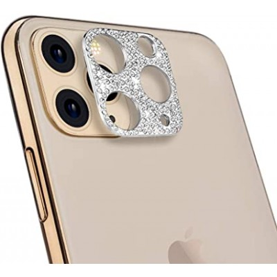 iPhone 11 Pro Max Bling Diamond Camera Lens Protector- Silver
