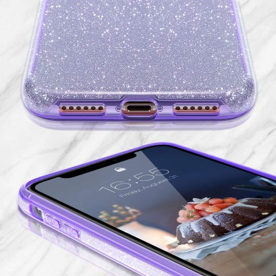 Θήκη Xiaomi Redmi Note 9 Pro/ Note 9s Glitter Shine Cover Hard -Μωβ