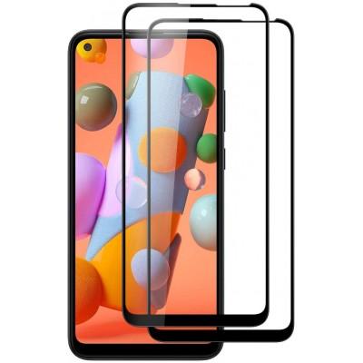 Samsung Galaxy A11  Full Face Tempered glass / Αντιχαρακτικό Γυαλί Πλήρους Οθόνης 3D Μαύρο