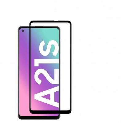 Samsung Galaxy A21s  Full Face Tempered glass / Αντιχαρακτικό Γυαλί Πλήρους Οθόνης 3D Μαύρο