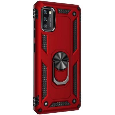Θήκη Samsung Galaxy A41 Rugged Armor Cover -Σκούρο Κόκκινο