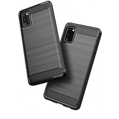 Θήκη Samsung Galaxy A41 Carbon Rugged Armor Case - Black