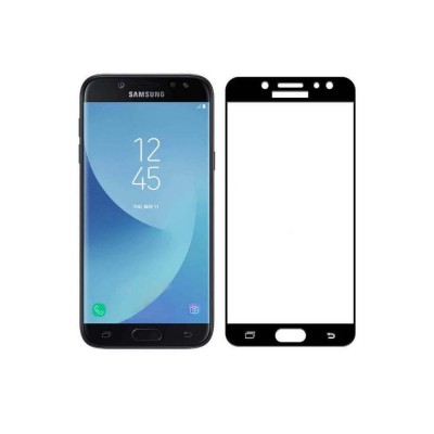 Samsung Galaxy J5 2017 Full Face Curved 3D Αντιχαρακτικό Γυαλί 9H Tempered Glass-Μαύρο