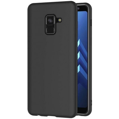 Samsung Galaxy A8 2018 Back cover soft matte tpu -Μαύρη