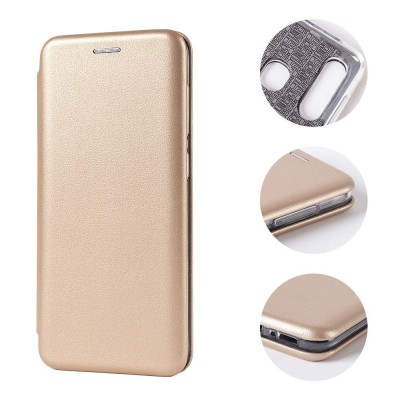 Θήκη Samsung Galaxy S20 Ultra Soft TPU&PU Leather Flip  Βιβλίο Smart Magnet Elegance -Χρυσό