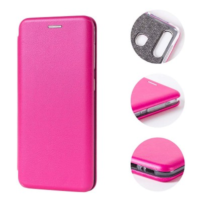 Θήκη Samsung Galaxy S20 Ultra Soft TPU&PU Leather Flip  Βιβλίο Smart Magnet Elegance -Ροζ