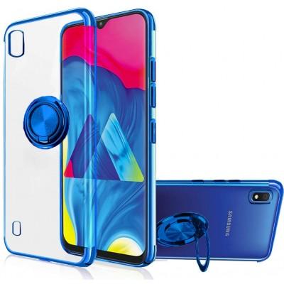 Θήκη Samsung Galaxy A20e Magnetic Ring Kickstand TPU  - Clear / Blue