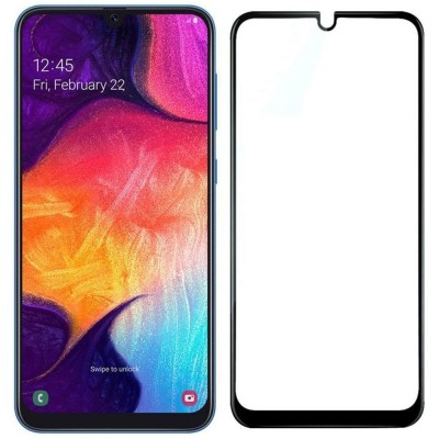 Samsung Galaxy A10 Full Face Tempered glass / Αντιχαρακτικό Γυαλί Πλήρους Οθόνης 3D Μαύρο
