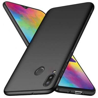 Samsung Galaxy A40 Θήκη Σιλικόνης Slim Fit -Black Matte