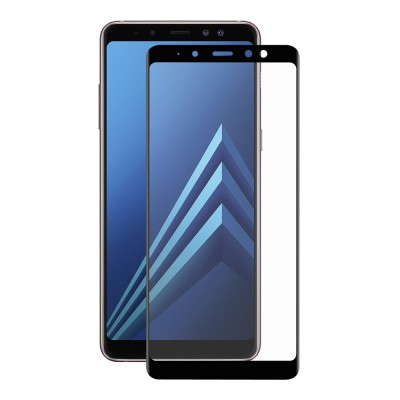 Samsung Galaxy A8 2018 Full Face Curved 3D Αντιχαρακτικό Γυαλί 9H Tempered Glass-Μαύρο