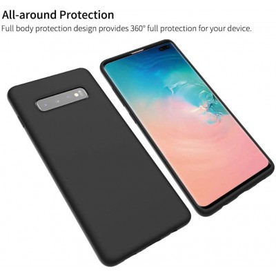 Θήκη Samsung Galaxy S10 Plus 360 protection front and back full body- Μαύρη