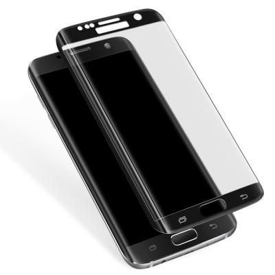Samsung Galaxy S7 Edge Full Face Curved 3D Αντιχαρακτικό Γυαλί 9H Tempered Glass-Μαύρο