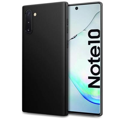 Θήκη Samsung Galaxy Note 10 Slim Fit Soft Silicone Finish Flexible TPU -Black Matt