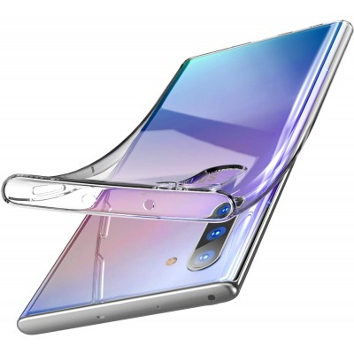 Θήκη Samsung Galaxy Note 10 Slim Fit Soft Silicone Finish Flexible TPU -Διάφανη