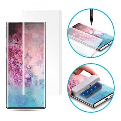 Samsung Galaxy Note 10 Plus Curved Liquid UV Tempered Glass With UV NanoScale Light