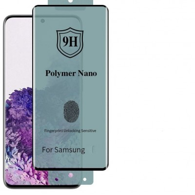 Samsung Galaxy Note 10 Plus 3D Nano Flexi Full Glue Full Face Curved Αντιχαρακτικό 9H Film Protector -Black