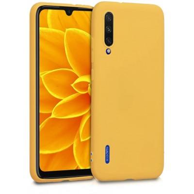 Θήκη Xiaomi Mi A3  Σιλικόνης Back cover soft matte tpu -Κίτρινο