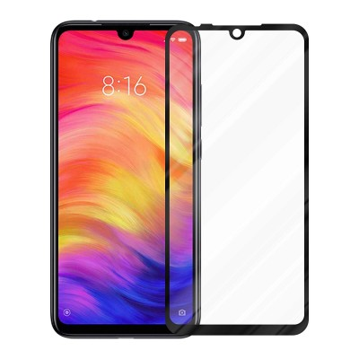 Xiaomi Redmi Note 7  3D Full Face Curved Black Αντιχαρακτικό Γυαλί 9H Tempered Glass