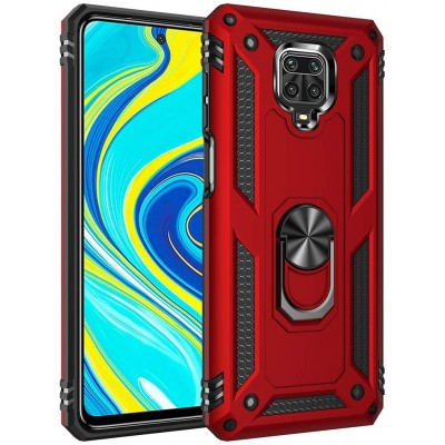 Θήκη Xiaomi Redmi Note 9 Pro /Note 9s Rugged Armor Cover -Σκούρο Κόκκινο