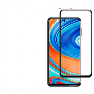 Xiaomi Redmi Note 9S / Note 9 Pro Full Face Curved Black Αντιχαρακτικό Γυαλί 9H Tempered Glass
