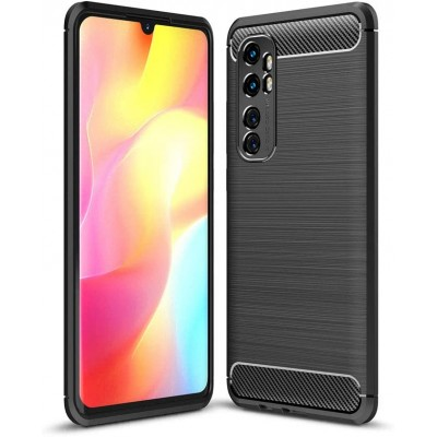 Θήκη Xiaomi Mi Note 10 Lite Carbon Fiber Brushed Soft Tpu -Black