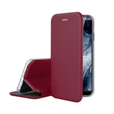 Θήκη Samsung Galaxy S20 Ultra Soft TPU&PU Leather Flip  Βιβλίο Smart Magnet Elegance -Μπορντό