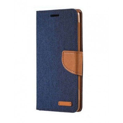 Θήκη Huawei P20 Lite Forcell Canvas Diary Υφασμάτινη Θήκη Πορτοφόλι με δυνατότητα Stand‏ -Navy Blue