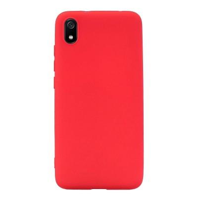 Θήκη Xiaomi Redmi 7A Σιλικόνης Back cover soft matte tpu -Κόκκινο