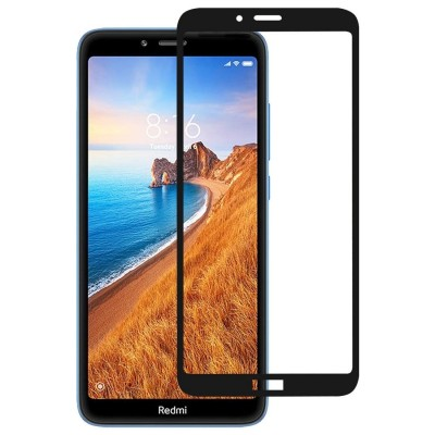 Xiaomi Redmi 7A 3D Full Face Curved Black Αντιχαρακτικό Γυαλί 9H Tempered Glass
